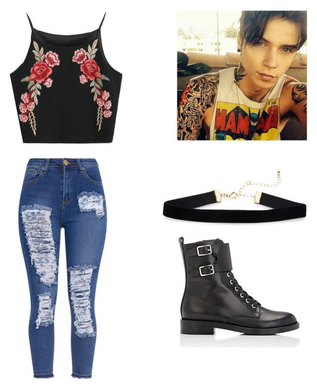 """""""Night out"""" by mystyleisme on Polyvore featuring Gianvito Rossi and Hot Topic"""