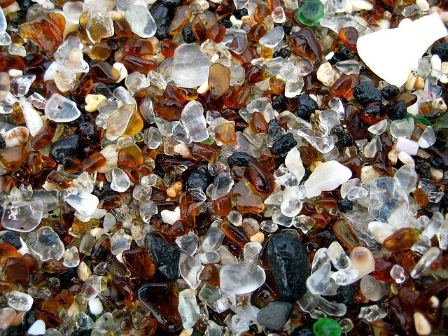 Glass Beach in Kauai, HI.  No sand, all glass!