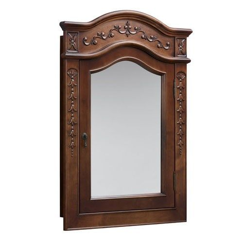 "RonBow 610028-F11 Vintage 38"" Wood Framed Medicine Cabinet in Colonial Cherry"