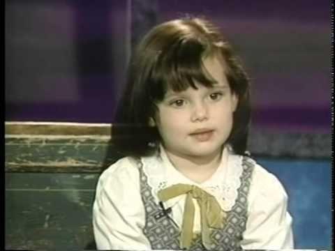 Brittany Ashton Holmes interviews.Age 5. 1994