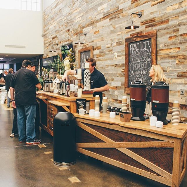 #CrtvMin inspiration from @churchofthecity >>> I can't prove it, but I'm pretty sure any coffee would taste better when served from here. Looks great, CotC! ☕️ <<< Want your photo featured on our page, too? Post using #CrtvMin!