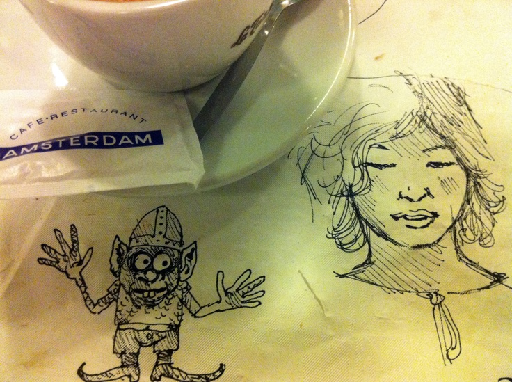 Cradam 20/4/12: and with coffee, a last portrait of Sterre, er, with Goblin!