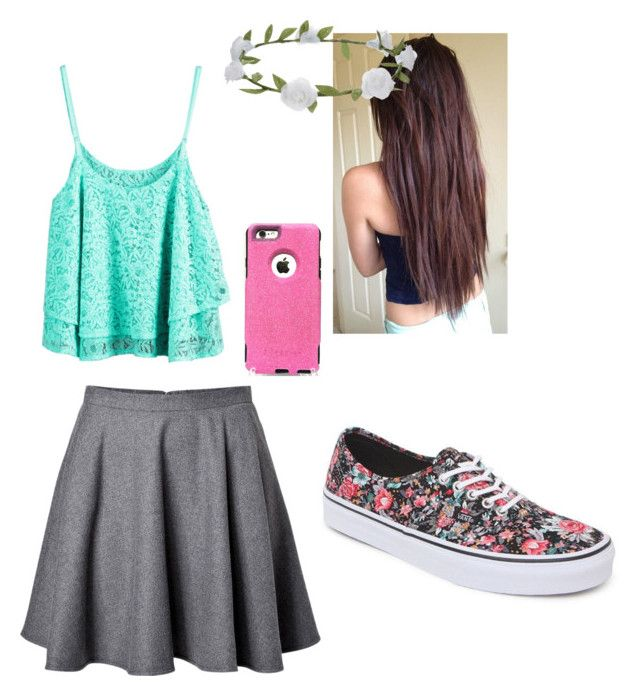 """""""Nicole from Seven super girls"""" by annacarlina ❤ liked on Polyvore featuring RED Valentino, Accessorize, Vans and OtterBox"""