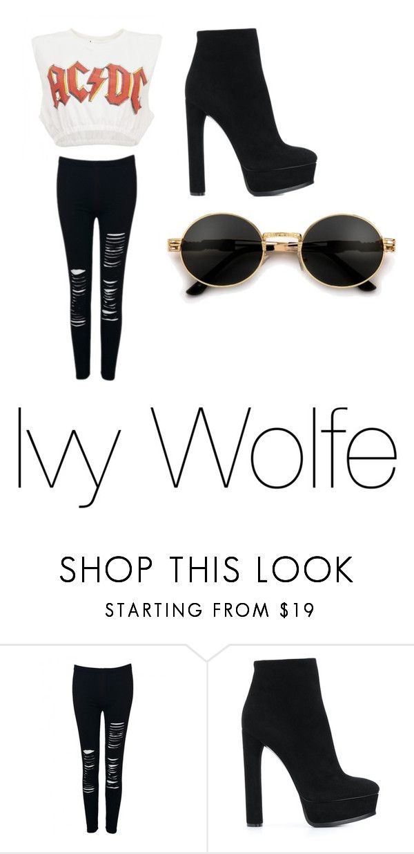 """""""Ivy School Outfit 5"""" by emopotato77 ❤ liked on Polyvore featuring WithChic and Casadei"""