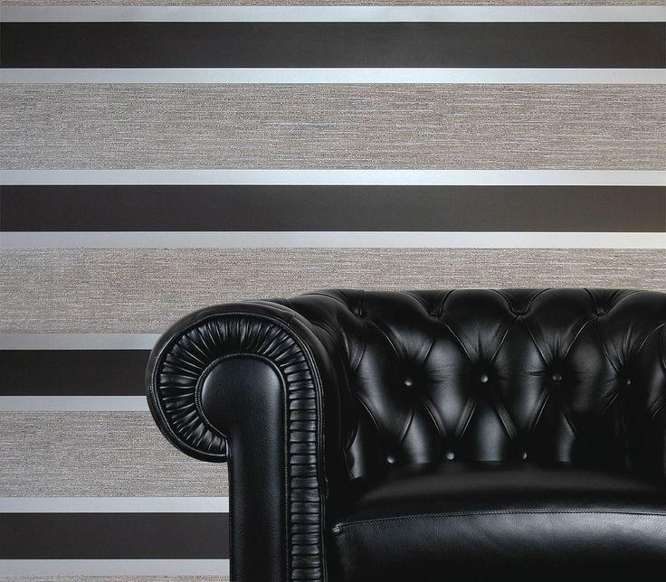 Bedroom Cabinet Designs Ideas Bedroom Ceiling Lights Ideas Bedroom Designs For Couples Black And White Damask Bedroom: 17 Best Ideas About Grey Striped Wallpaper On Pinterest