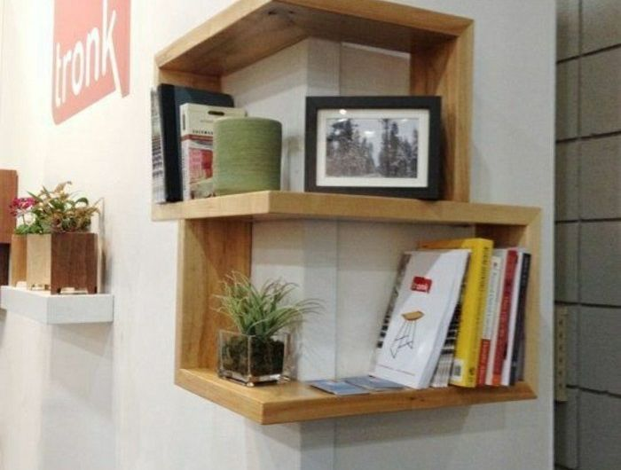 25 best ideas about etagere murale design on pinterest rayonnage mural et - Etagere murale avec tiroir leroy merlin ...