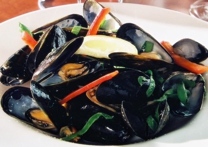 Steamed Mussels. Served with your choice of lemon garlic ...