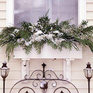 seasonal window box ideas | Turn your window boxes into a holiday