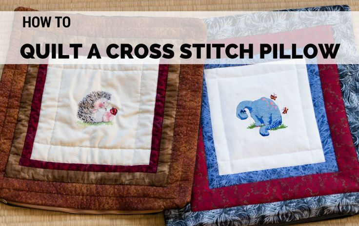 A more casual alternative to a traditional frame, a pillow or cushion cover with a 'fabric frame' is a great way to display your completed cross stitch projects!