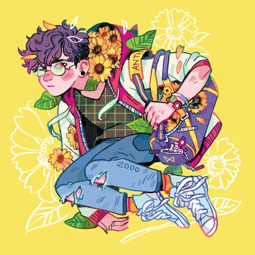 Lovely floral themed illustrations from 91burrow on Tumblr
