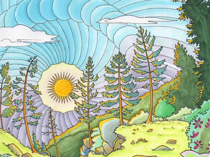 Legendary Landscapes Is An Ambitious New Coloring Book For Adults This Will Feature 65
