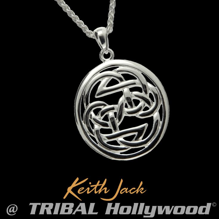 PATH OF LIFE KNOT Sterling Silver Pendant Chain by Keith Jack