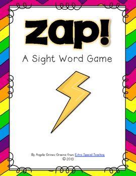 Zap! A Sight Word Game Freebie