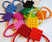 Hair Clips set of 3 made with Lego (r) plate your choice of colors. $10.00, via Etsy.