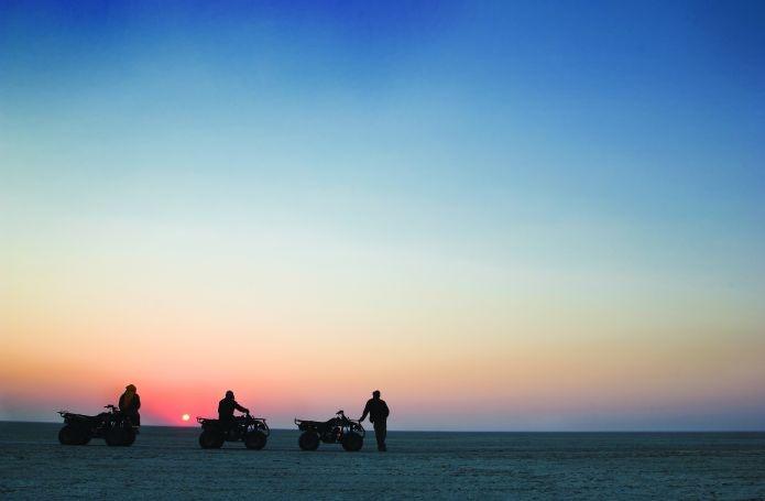 Quad Bikes across the Makgadikgadi Salt Pans are true thrill