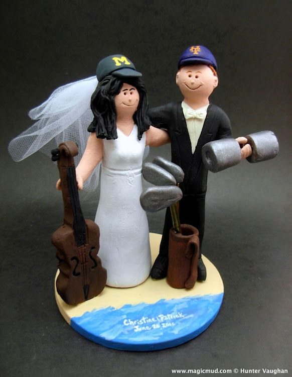 Cello Player's Wedding Cake Topper by www.magicmud.com 1 800 231 9814 mailto:magicmud@m... blog.magicmud.com twitter.com/... www.facebook.com/... #beach#beach_destination#surf#ocean#destination#hawaii#caribbean#mexico#wedding #cake #toppers #custom #personalized #Groom #bride #anniversary #birthday#weddingcaketoppers#cake toppers#figurine#gift#wedding cake toppers