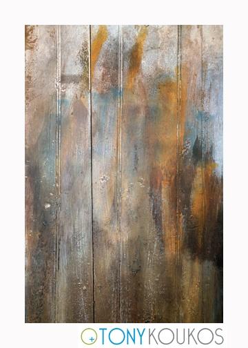 wood, vertical planks, paint, brushstrokes, aged, dodecanese islands, greece, Tony Koukos, Koukos