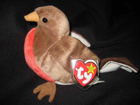 EARLY the Original Beanie Baby Robin by mbguest on Etsy, $10.00