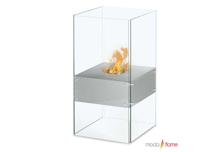 Moda Flame Cella Free Standing Floor Indoor Outdoor Ethanol Fireplace Fireplaces Pinterest