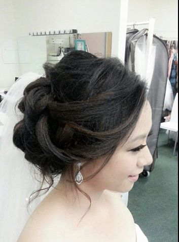 asian wedding updo bridal