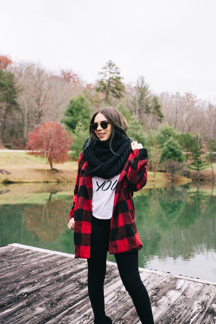 rabun gap, georgia, travel, plaid coat, coach, black scarf, ag jeans, black jeans, fashion, miami fashion blogger, ray ban, club master, i like you, furor moda, plaid, fall fashion, fall outfits