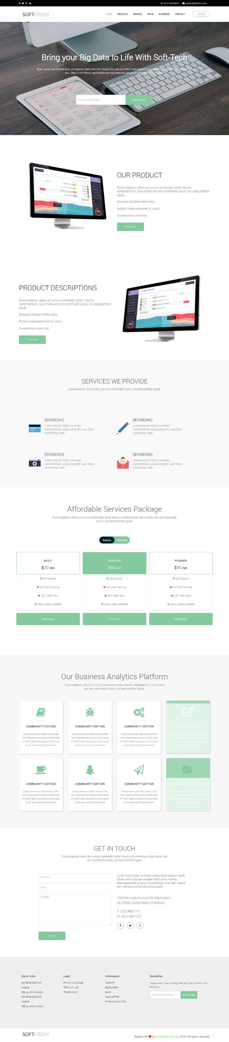 html web page template