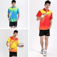 NEW #Men's badminton clothing suits running #sportswear and leisure clothing 3 Colors 6 Size K_SMA013