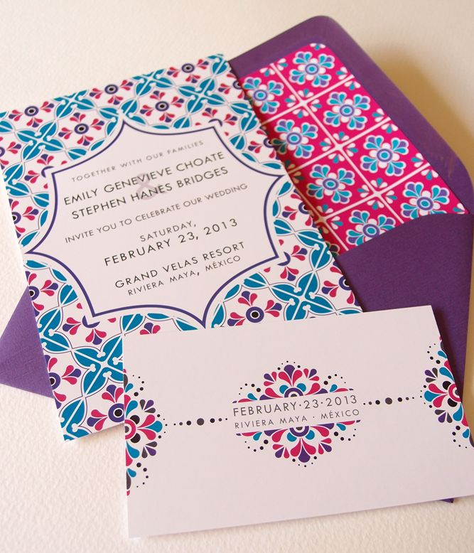 http://www.zikamu.com/wp-content/uploads/2014/12/wedding-card-beautiful-mexican-wedding-invitation-card-design-with-white-background-with-blue-and-red-floral-frame-motives-and-purple-envelope-innovative-mexican-wedding-invitation-card-designs.jpg