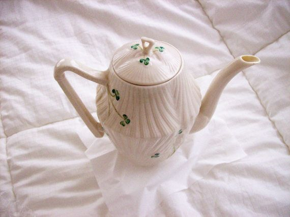 Vintage Belleek China Shamrock Harp Repaired by GiftsFromFlutters