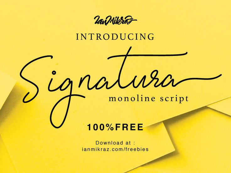 Signatura Monoline Free Typeface by ianmikraz