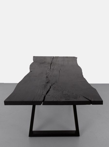 Trapped Base Slab Dining Table, Uhuru