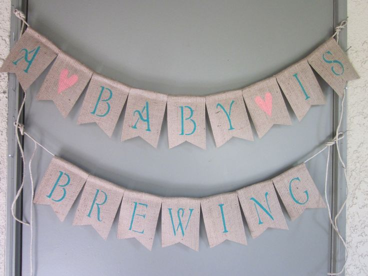 A Baby Is Brewing - Tea Party Baby Shower Banner - Beer Themed Baby Shower Decor…                                                                                                                                                                                 More
