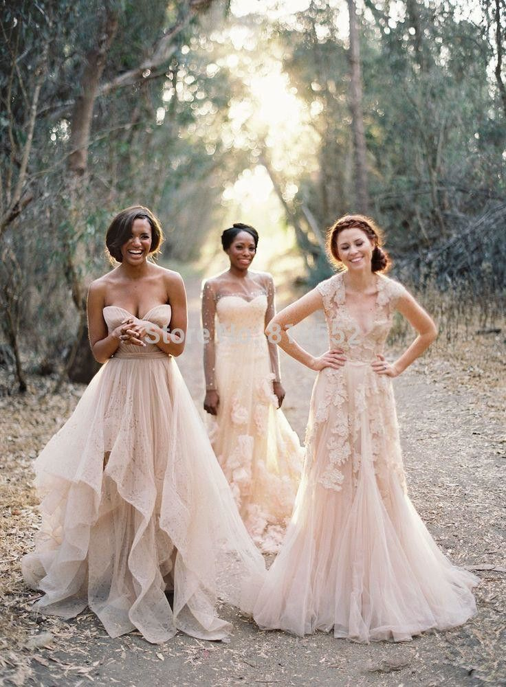 17 best ideas about boho bridesmaid dresses on pinterest for Boho hippie wedding dresses