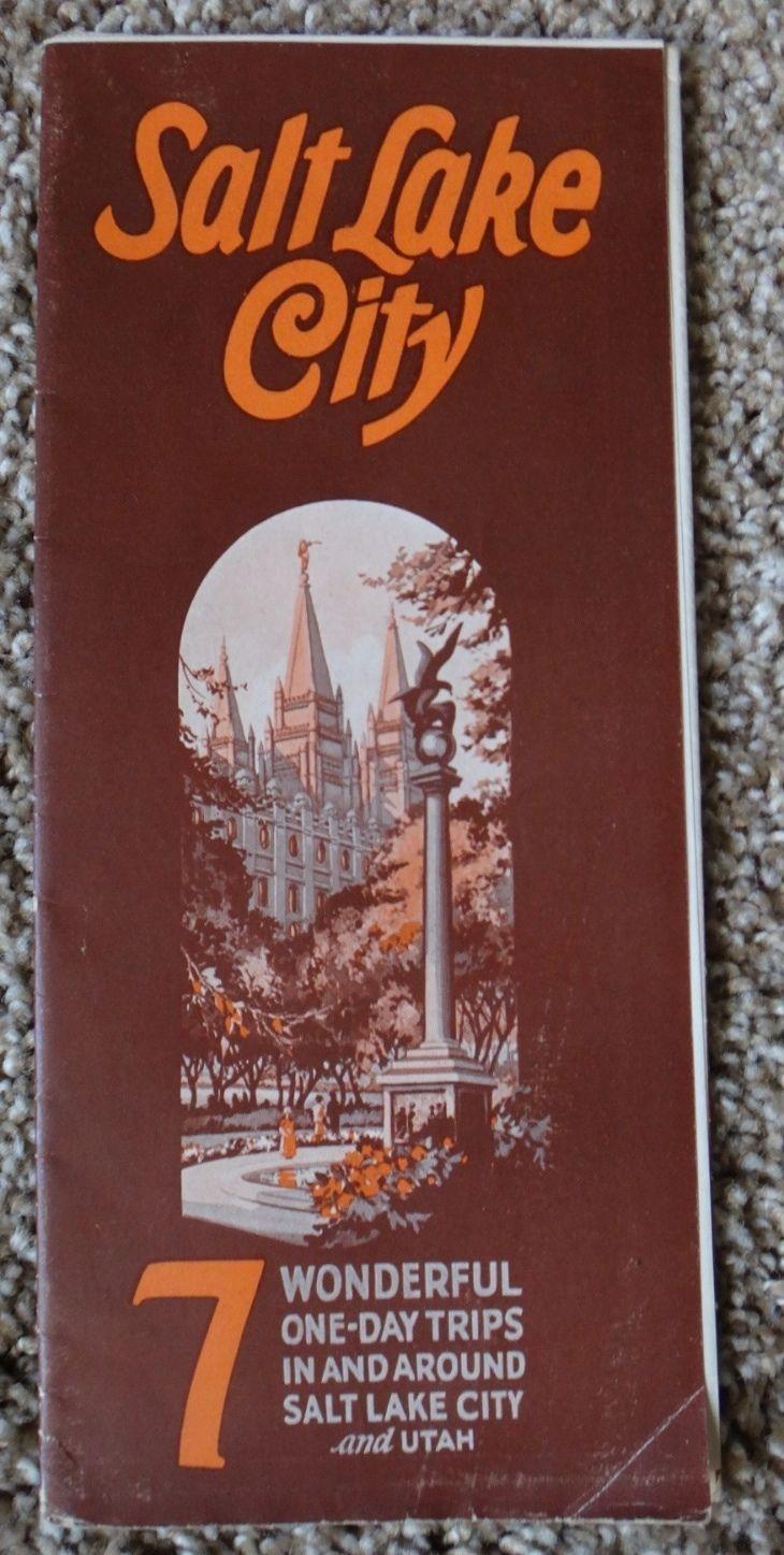 Vtg 1927 Salt Lake City Travel Brochure - 7 Wonderful One-Day Trips ~ Ephemera in Collectibles, Paper, Ephemera | eBay