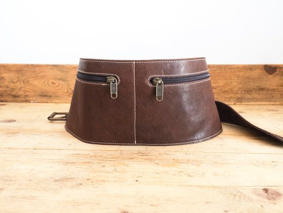 Leather FANNY PACK unisex // Cowhide belt bag // Leather by KURTIK
