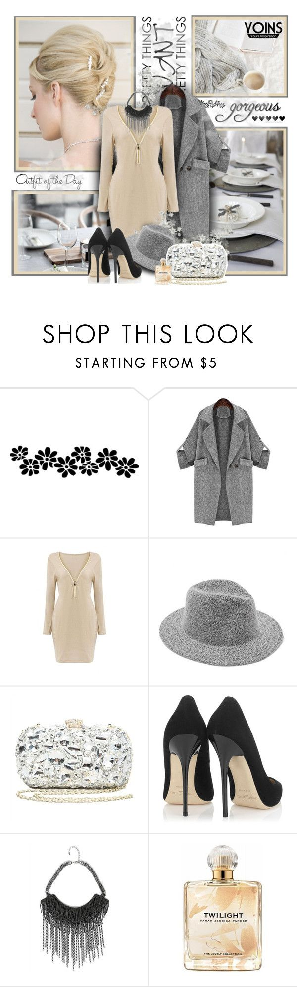 """Yoins"" by sneky ❤ liked on Polyvore featuring Bebe, Jimmy Choo, Petit Bateau and Sarah Jessica Parker"