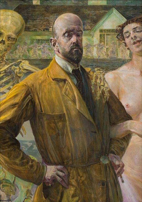 Jacek Malczewski - Self-portrait (1916) life and death