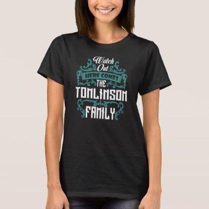 The TOMLINSON Family. Gift Birthday T-Shirt - birthday gifts party celebration custom gift ideas diy