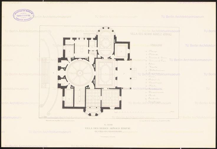 Villa des Herrn Arnold Rimpau, Braunschweig. (Aus: Öffentliche und Privatgebäude, 1887)   Uhde, Constantin