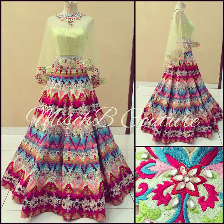 Avant Pop, lehenga by MischB Couture