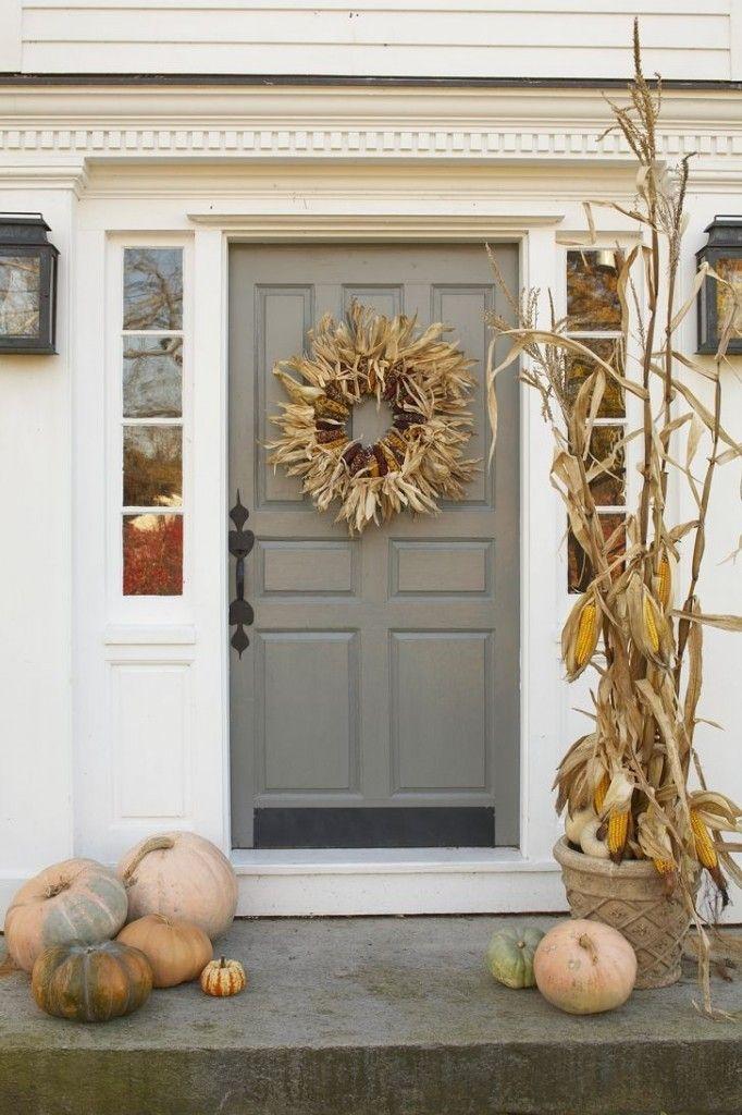 New England Autumn Door Decorating Ideas - The Daily Basics
