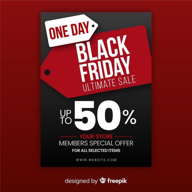 Pobierz Jednodniowy Rabat Czarny Piatek Za Darmo Black Friday Flyer Discount Black Friday Vector Free Download