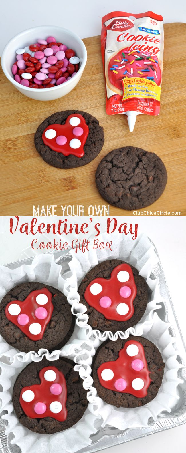 Gift wrapping ideas for home made baked goods -  For Valentine S Day Turn Ordinary Cookies Into Super Cute Polka Dot Heart Cookies And Wrap Up For The Perfect Homemade Gift Idea For Valentine S Day