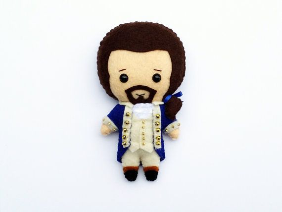 Ready To Ship Alexander Hamilton Felt Plush Plushie Doll