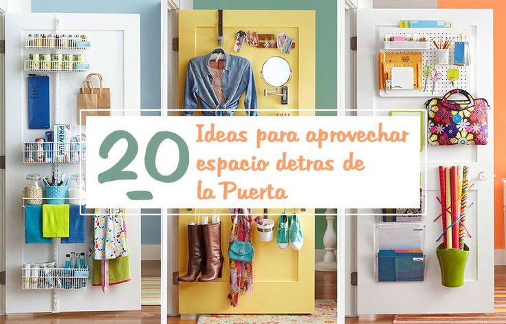 20 ideas para aprovechar el espacio detrás de la puerta