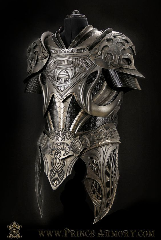 Krypton Cuirass by Azmal leather armor equipment gear magic item | Create your own roleplaying game material w/ RPG Bard: www.rpgbard.com | Writing inspiration for Dungeons and Dragons DND D&D Pathfinder PFRPG Warhammer 40k Star Wars Shadowrun Call of Cthulhu Lord of the Rings LoTR + d20 fantasy science fiction scifi horror design | Not Trusty Sword art: click artwork for source: