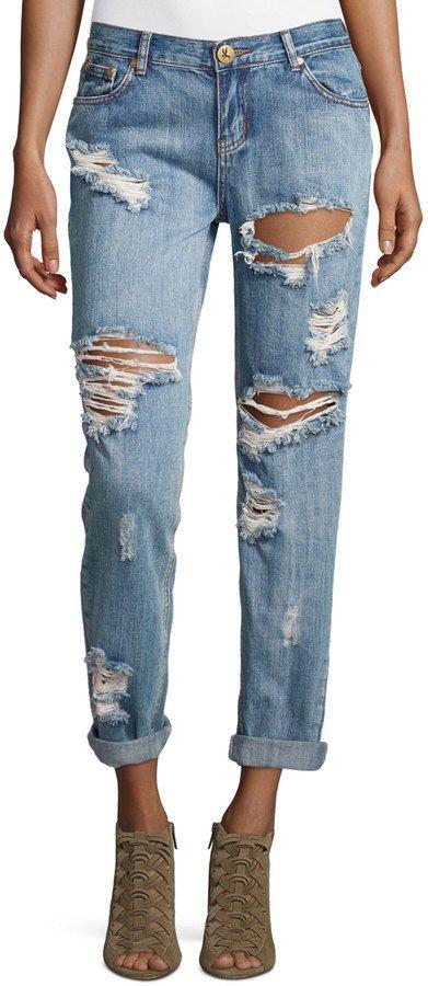 One Teaspoon Mid-Rise Baggie Boyfriend Jeans, Cobain Click on the pic to shop! #denim #jeans #style #fashion #sale