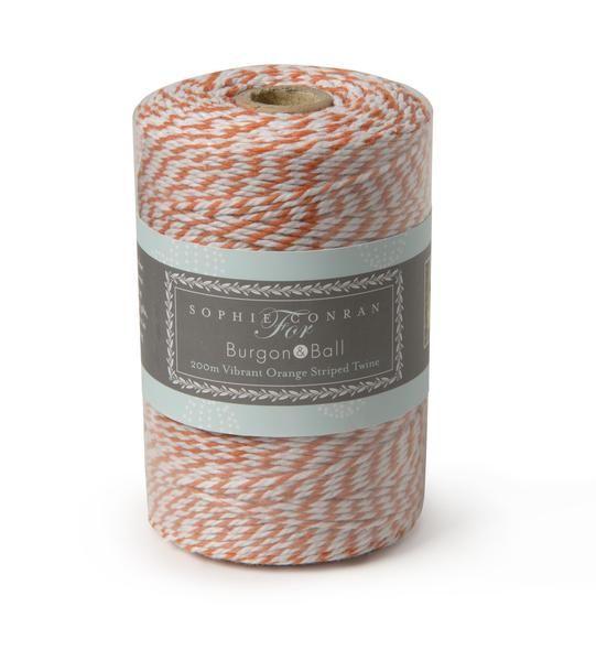 SOPHIE CONRAN  |  Striped Twine - Vibrant Orange