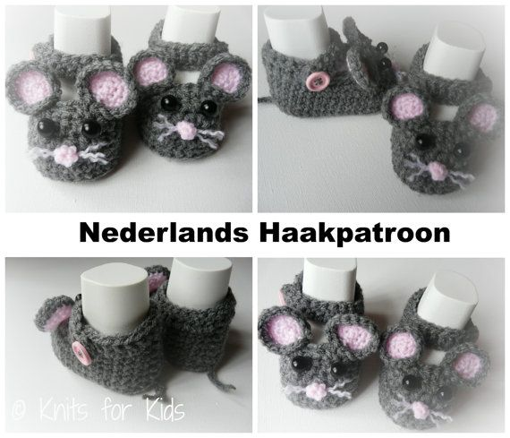 Nederlands Haakpatroon Baby Schoentjes Little door ElodyKnitsforKids
