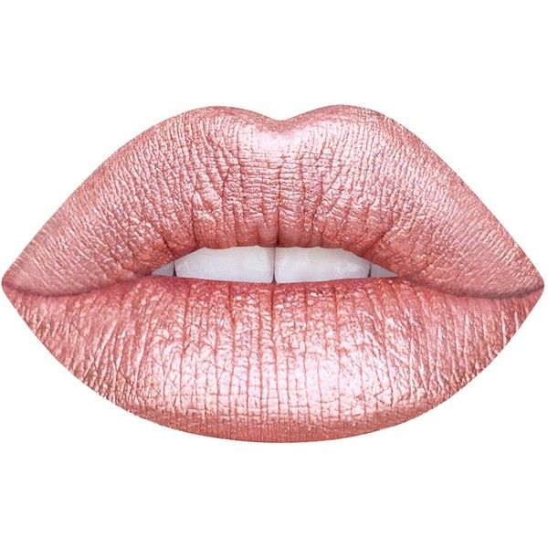 Lime Crime Blondie Metallic Velvetine Liquid Lipstick (€19) ❤ liked on Polyvore featuring beauty products, makeup, lip makeup, lipstick, lips, beauty, pink, fillers, long wear lipstick and lime crime lipstick